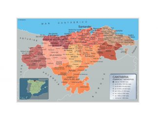 Mapa Municipios Cantabria