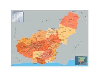 Mapa Municipios Granada