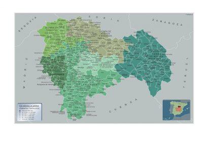 Mapa Municipios Guadalajara