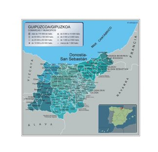 Mapa Municipios Guipuzcoa