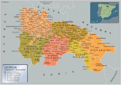 Mapa Municipios La Rioja
