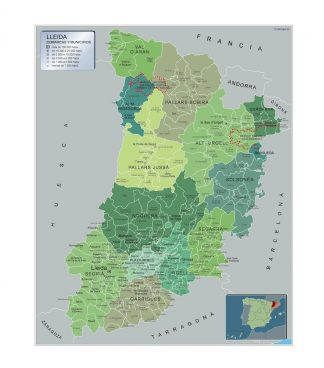Mapa Municipios Lleida