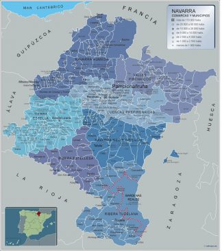 Mapa Municipios Navarra