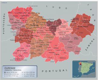 Mapa Municipios Ourense