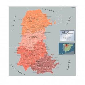 Mapa Municipios Palencia