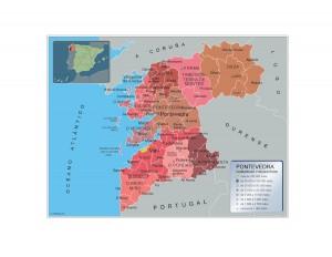 Mapa Municipios Pontevedra