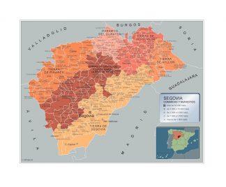 Mapa Municipios Segovia