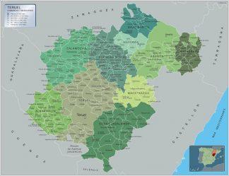 Mapa Municipios Teruel