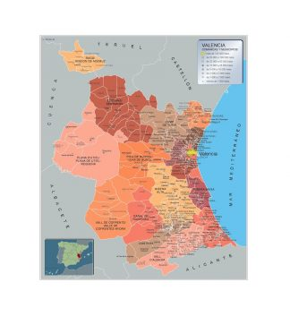Mapa Municipios Valencia