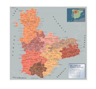 Mapa Municipios Valladolid