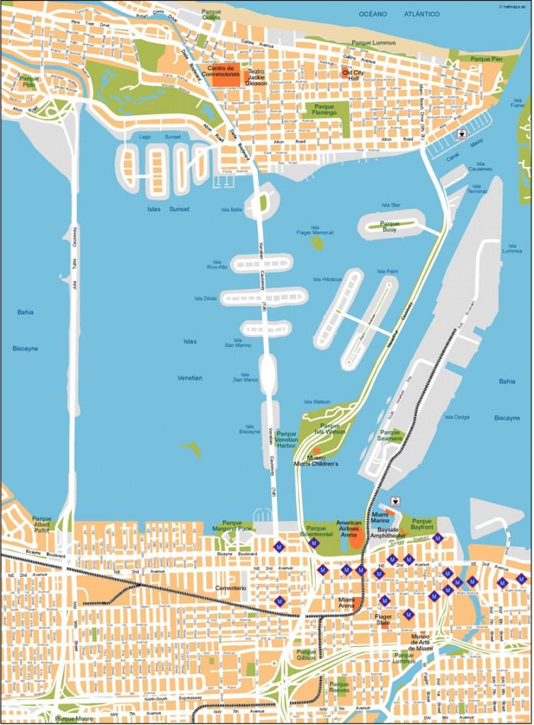 miami mapa vectorial | netmaps. mapas de españa y del mundo