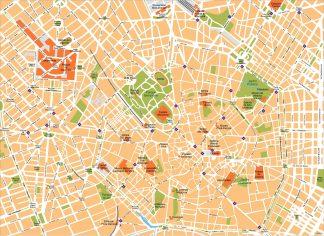 Milano Vector Map