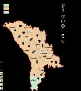 Moldova Economic map