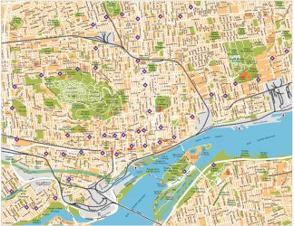 Montreal Vector Map