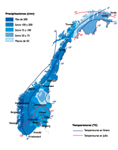 Norway Climate map