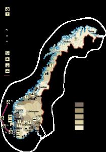 Norway Economic map