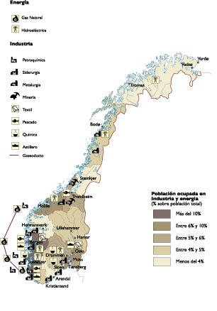 Norway Economic map