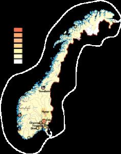 Norway Population map