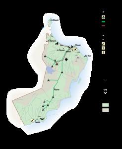 Oman Economic map