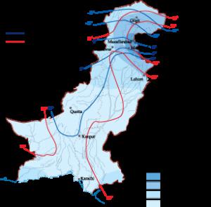 Pakistan Climate map