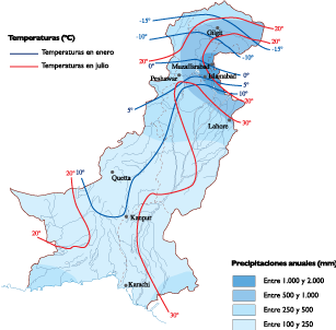 Pakistan Climate map