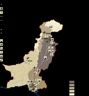 Pakistan Economic map