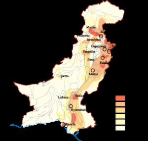 Pakistan Population map