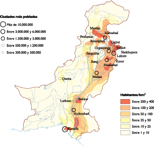 Pakistan Population map