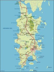 Phuket Vector Map