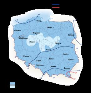 Poland Climate map