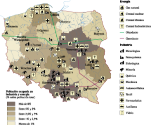 Poland Economic map