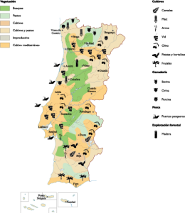 Portugal Agricultural map