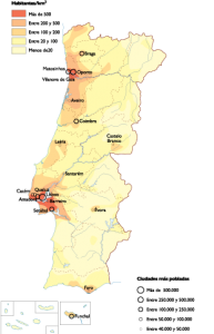 Portugal Population map