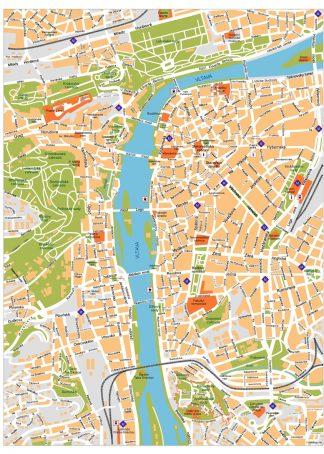 Praga Vector Map