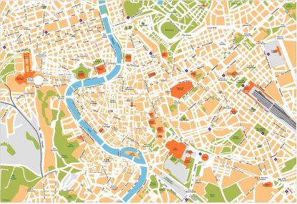Roma Vector Map
