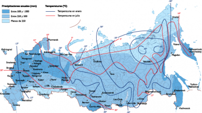 Russia Climate map