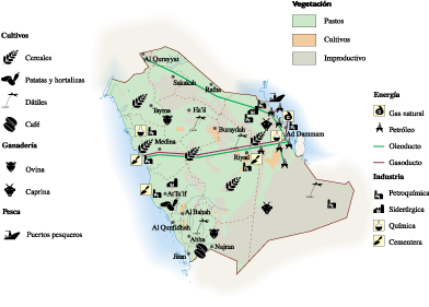 Saudi Arabia Economic map