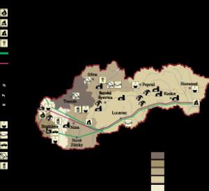 Slovak Republic Economic map