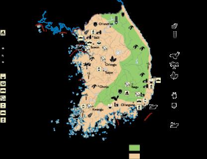 South Korea Economic map