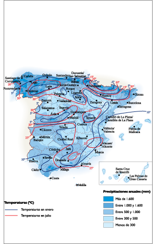 Spain Climate map