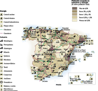 Spain Economic map