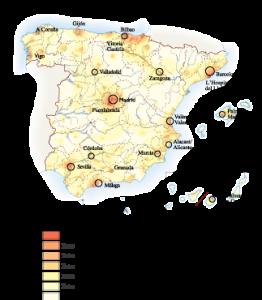 Spain Population map