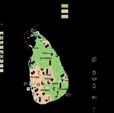 Sri Lanka Economic map