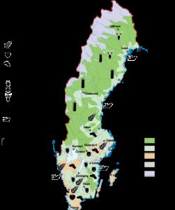 Sweden Agricultural map