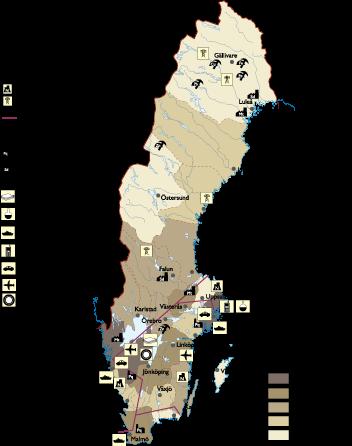 Sweden Economic map