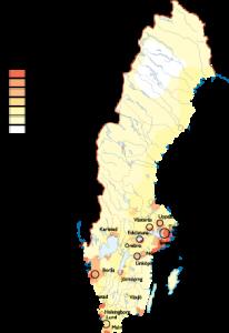 Sweden Population map