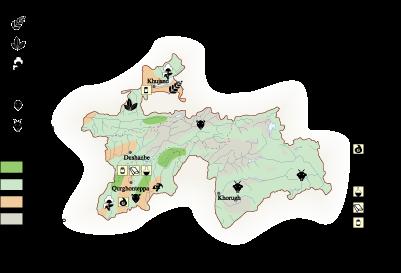 Tayikistan Economic map