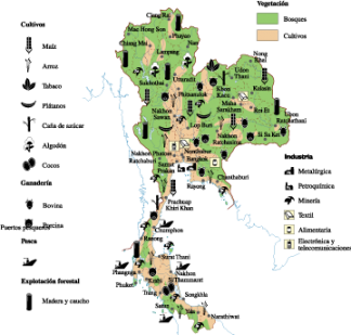 Thailand Economic map