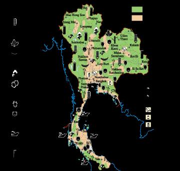 Thailand Economic map