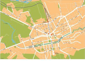Tirana Vector Map